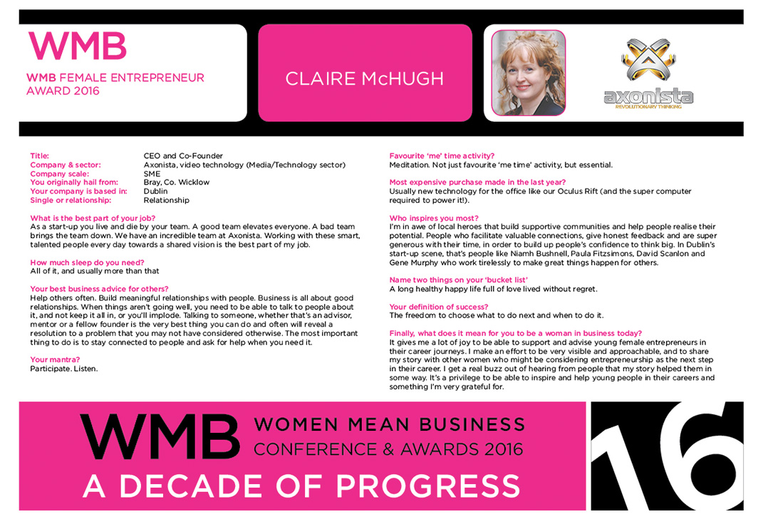 2016 Wmb Awards Finalists Women Mean Business, Business Website For Women  In Ireland How To '