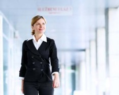 Businesswoman in office attire